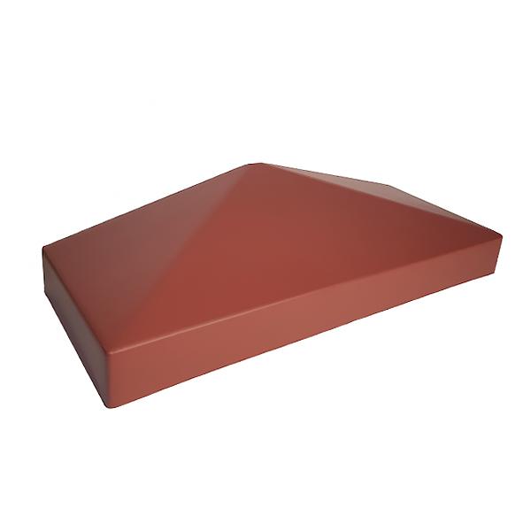 """Крышка пластиковая """"половинка"""" 385х155 красная"""