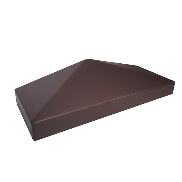 """Крышка пластиковая """"половинка"""" 385х155 коричневая"""