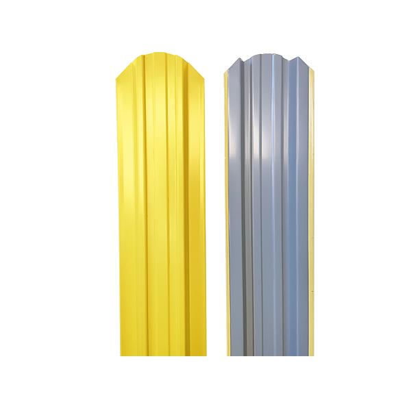 Евроштакетник прямоугольный 120х1500 RAL1018 желтый