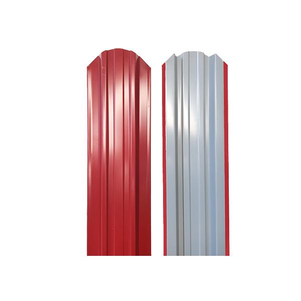 Евроштакетник прямоугольный 120х1500 RAL3003 красный рубин