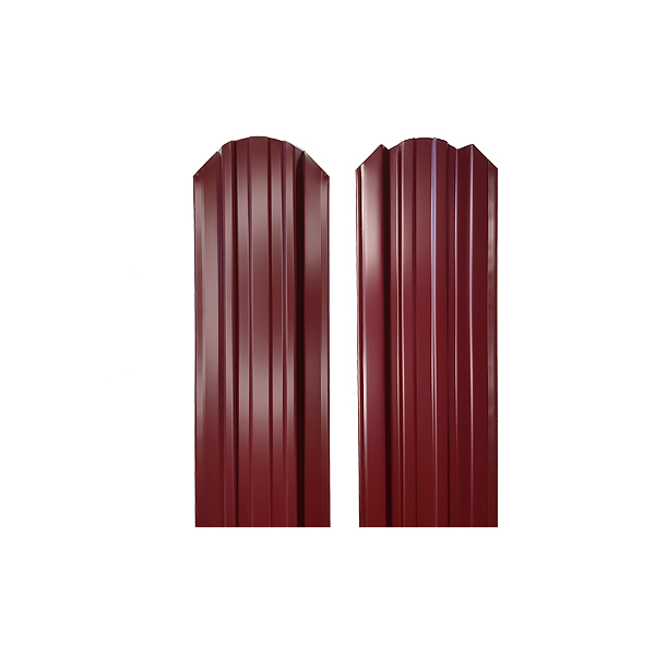 Евроштакетник прямоугольный 120х1500 RAL3005 двухсторонний красное вино