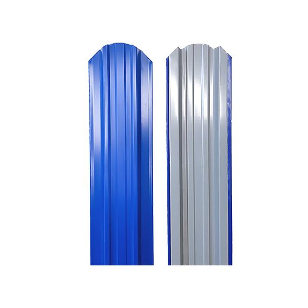 Евроштакетник прямоугольный 120х1500 RAL5005 сигнально-синий