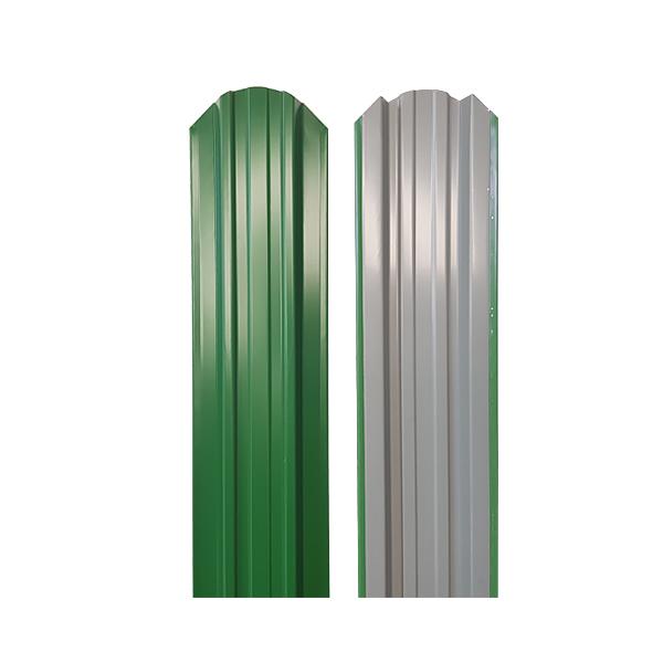 Евроштакетник прямоугольный 120х1500 RAL6002 зеленая листва