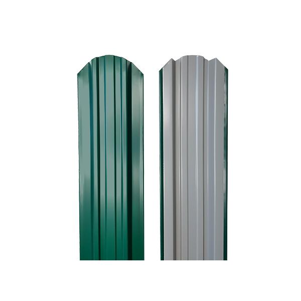 Евроштакетник прямоугольный 120х1500 RAL6005 зеленый мох