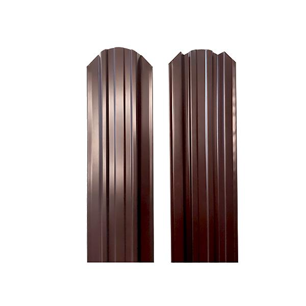 Евроштакетник прямоугольный 120х2000 RAL8017 двухсторонний шоколад