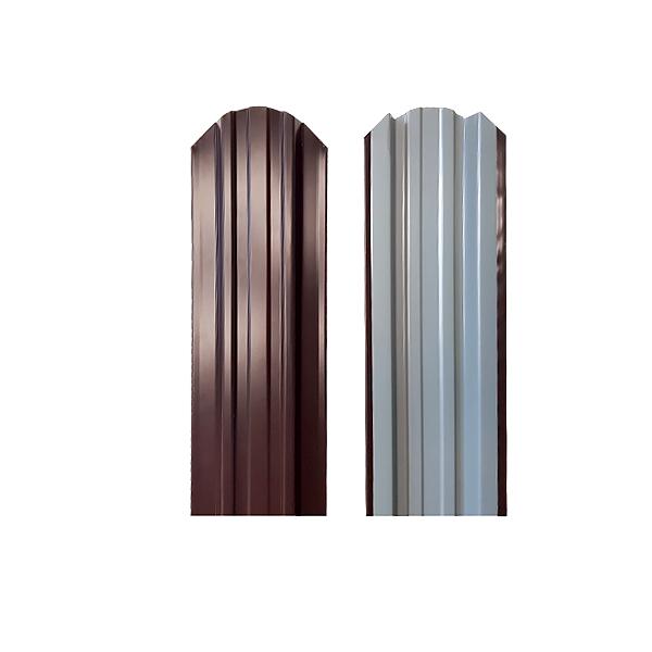 Евроштакетник прямоугольный 120х1300 RAL8017 шоколад