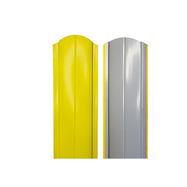 Евроштакетник радиусный 130х1500 RAL1018 желтый