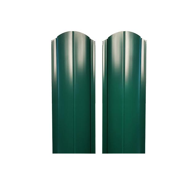 Евроштакетник радиусный 130х1500 RAL6005 двухсторонний зеленый мох
