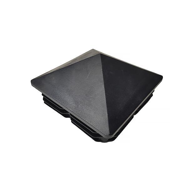Заглушка для труб 100х100 пирамида черная