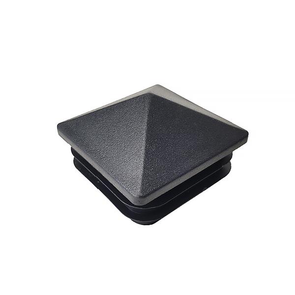 Заглушка для труб 50х50 пирамида черная