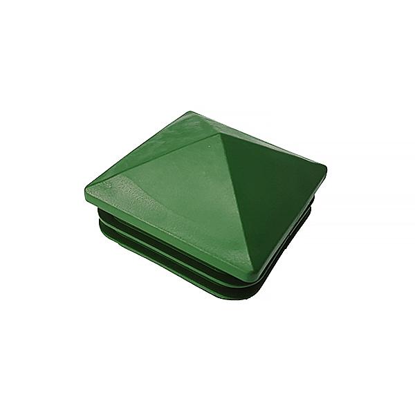 Заглушка для труб 60х60 пирамида зеленая