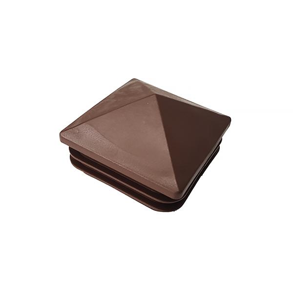 Заглушка для труб 60х60 пирамида коричневая