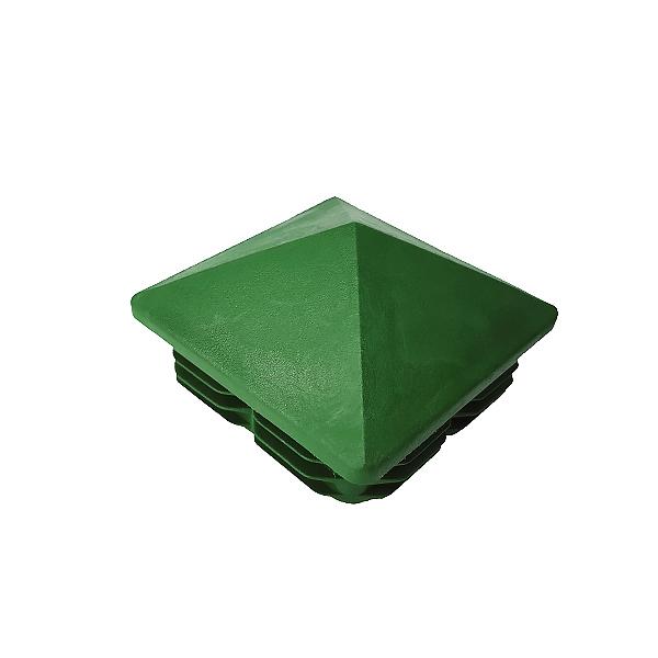 Заглушка для труб 80х80 пирамида зеленая