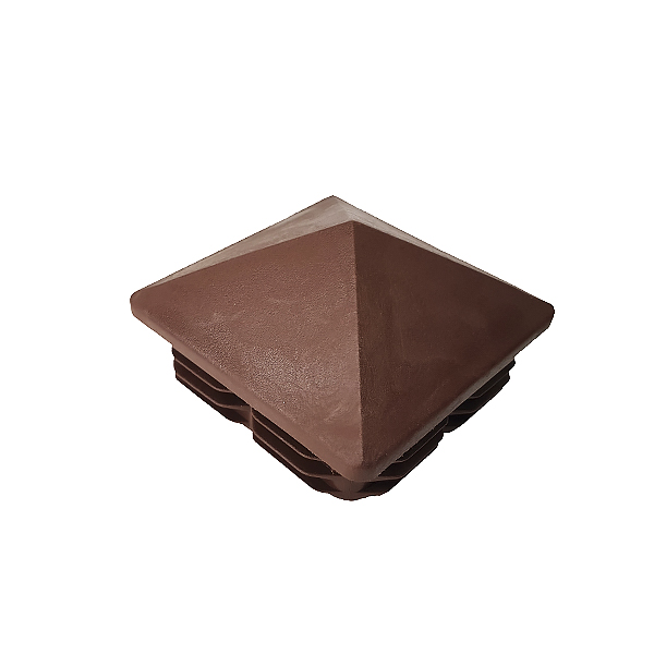 Заглушка для труб 80х80 пирамида коричневая
