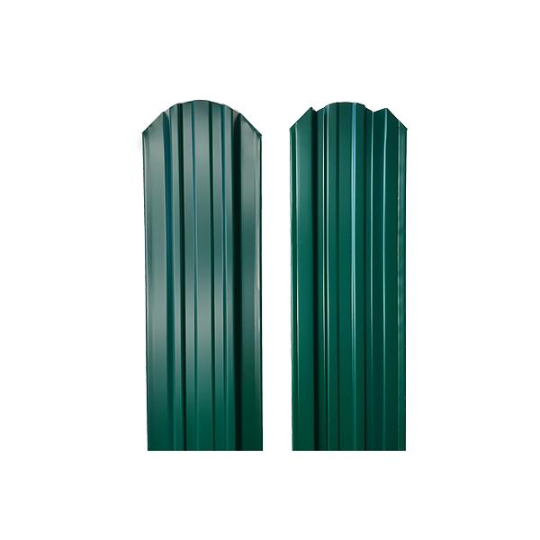 Евроштакетник прямоугольный 120х1500 RAL6005 двухсторонний зеленый мох